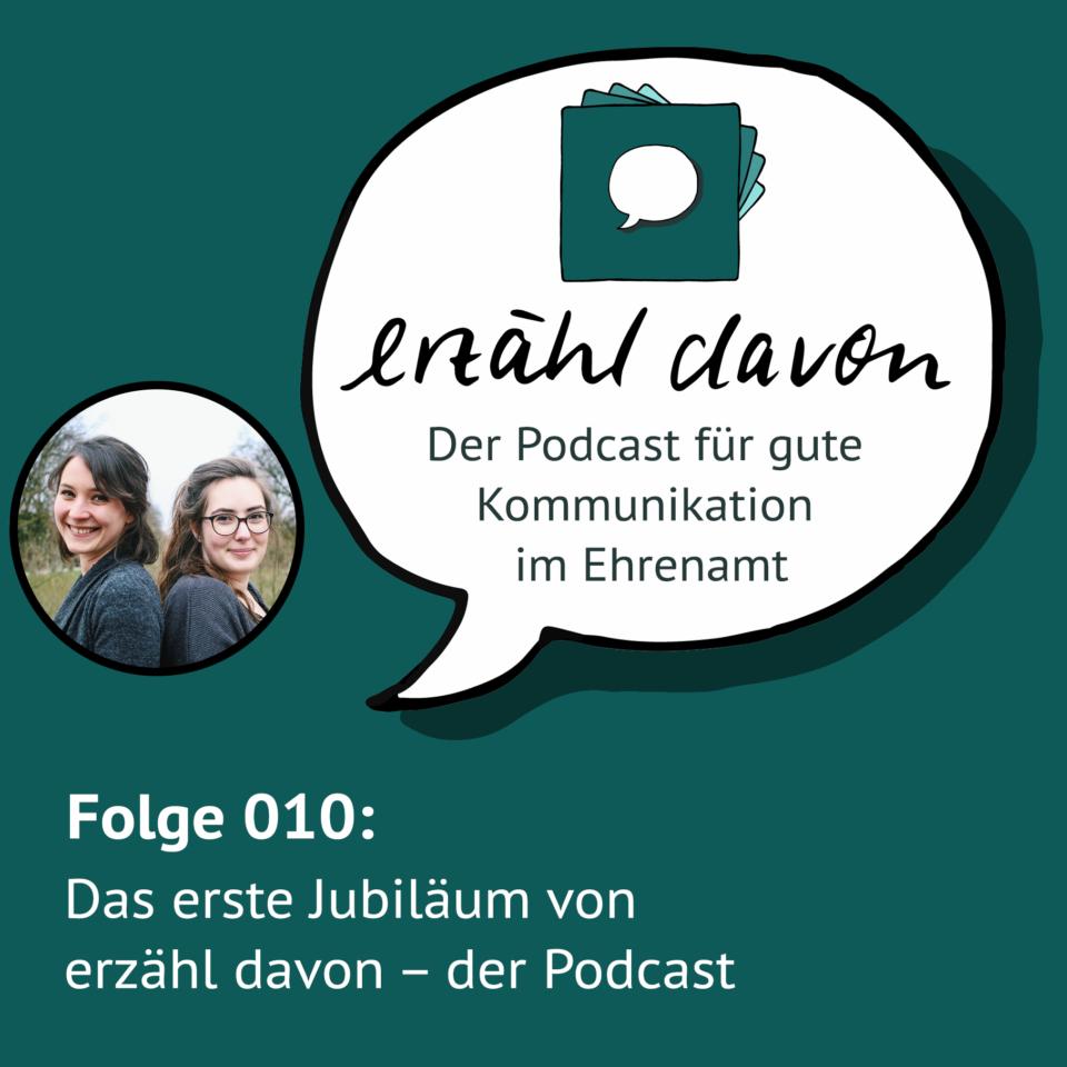 Folge 010: Das erste Jubiläum von erzähl davon – der Podcast