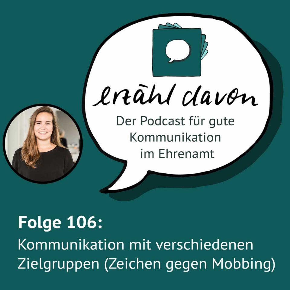 Kommunikation mit verschiedenen Zielgruppen mit Vanessa von Zeichen gegen Mobbing e.V.